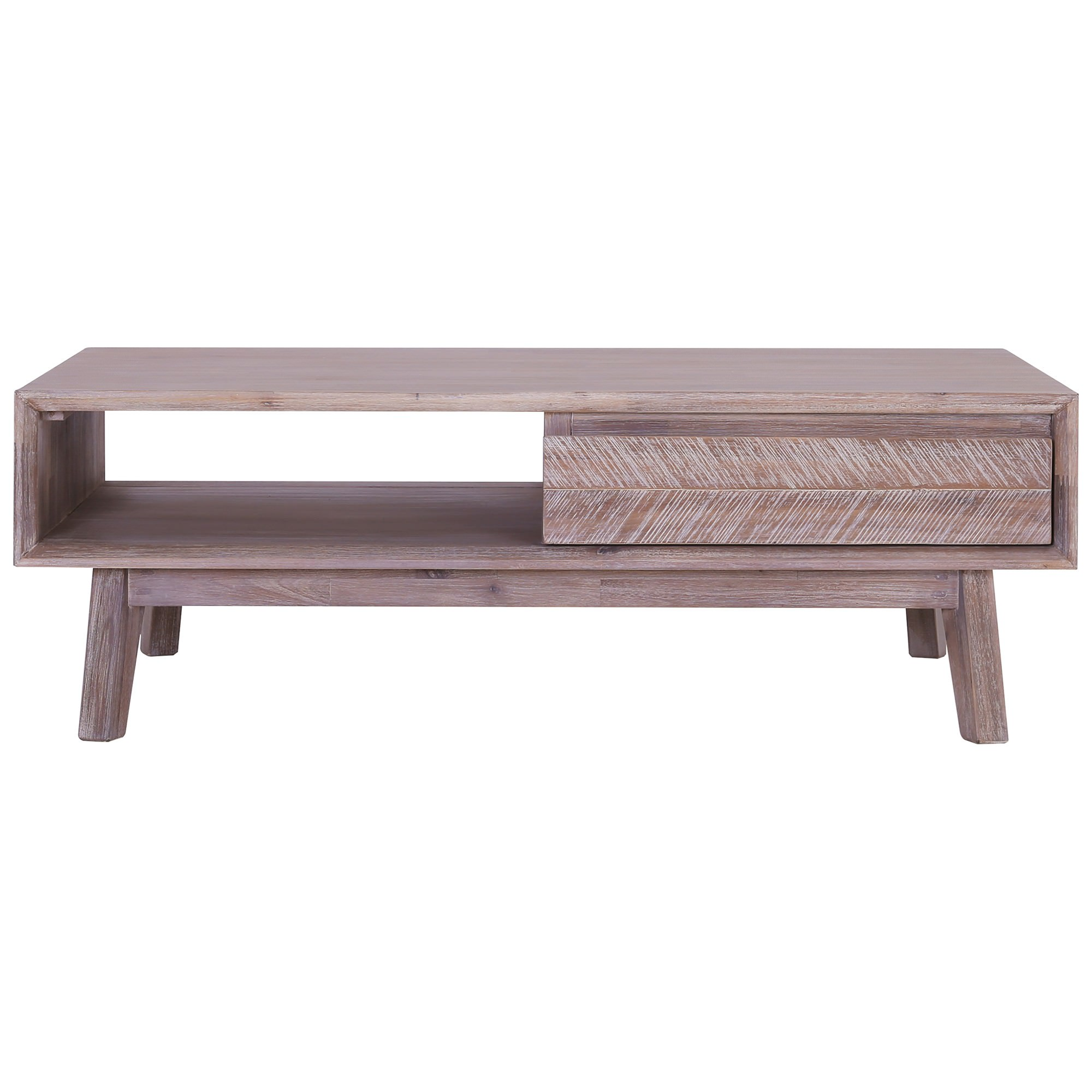 Madrid Commercial Grade Acacia Timber 2 Drawer Coffee Table, 120cm