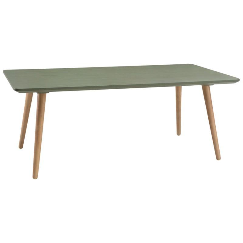 Carsyn Wooden Rectangular Coffee Table, 120cm, Pickle Green / Oak