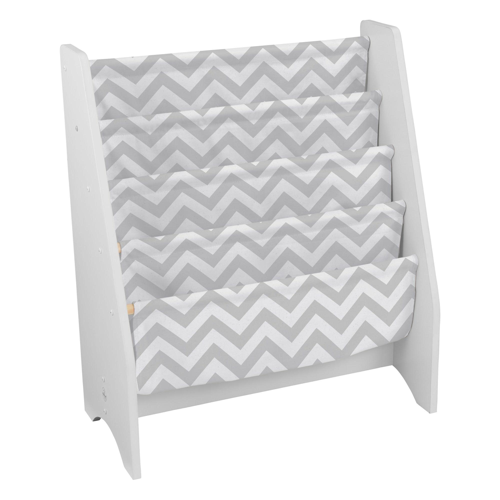 Kidkraft White Sling Bookshelf - Grey Pattern