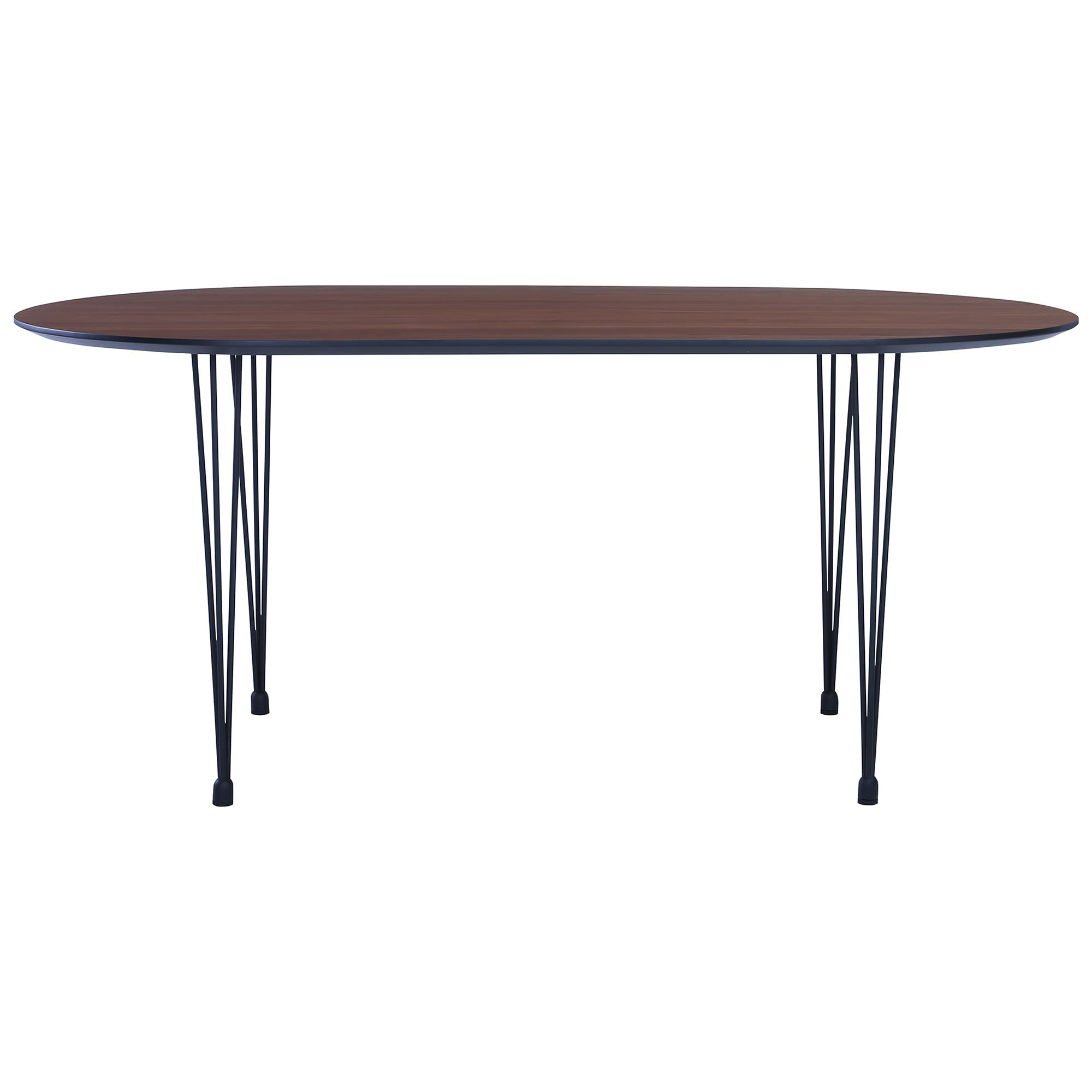 Omeo Dining Table, 170cm, Walnut / Black