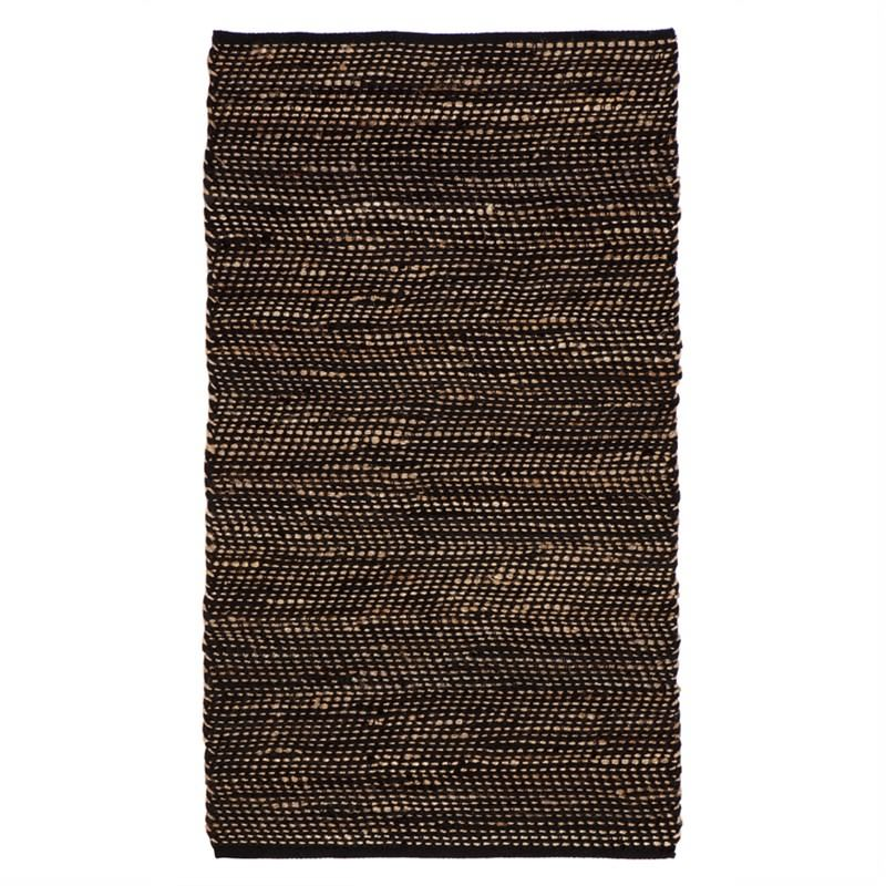 IBIS Hand Woven 150x240cm Cotton and Jute Rug - Black/Natural