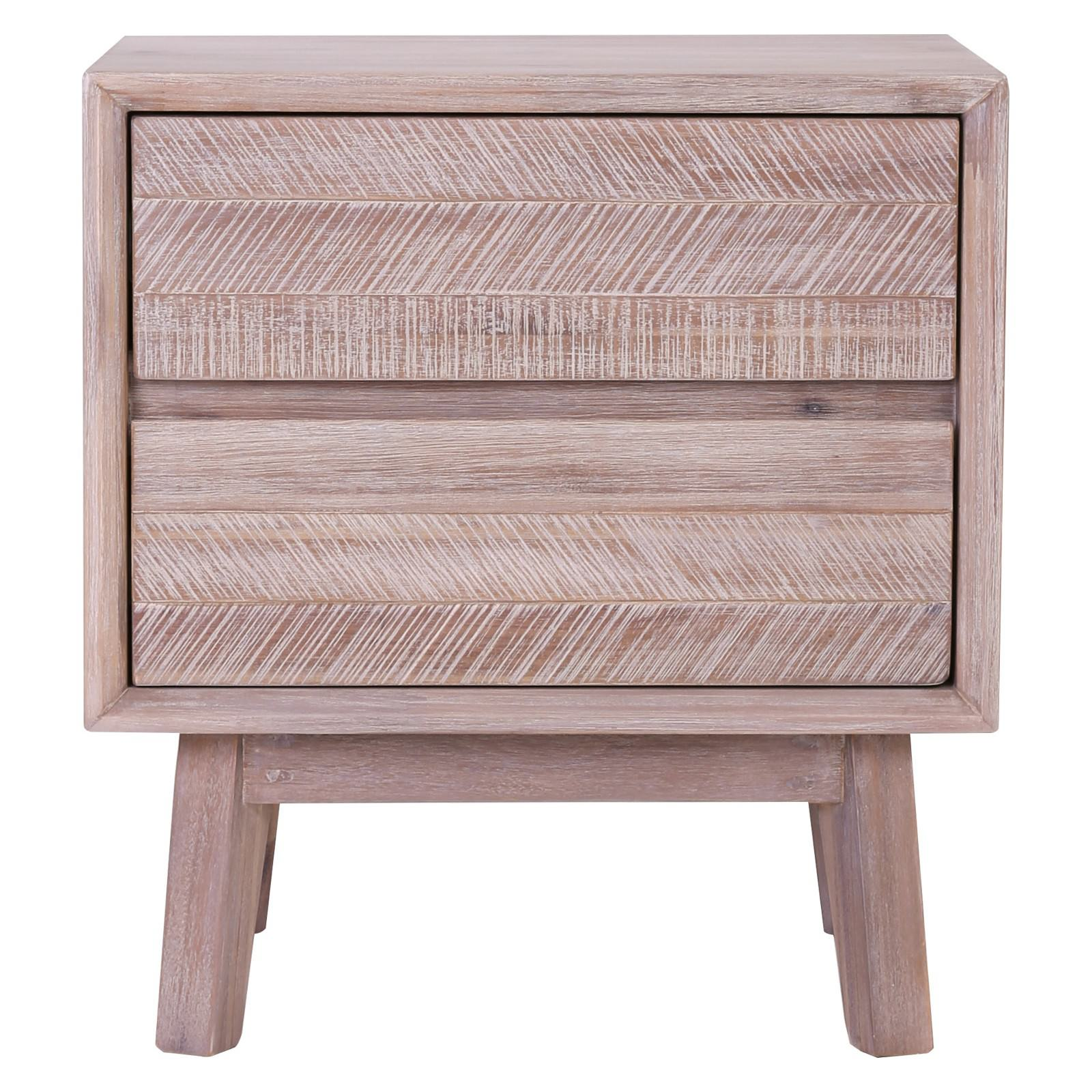Madrid Commercial Grade Acacia Timber 2 Drawer Bedside Table
