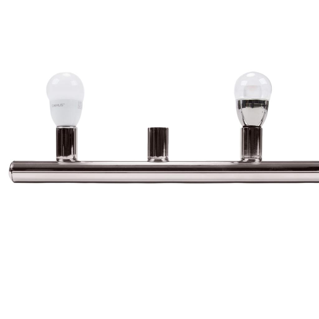 HL-804 Hollywood Vanity Light, 6 Light, Satin Chrome