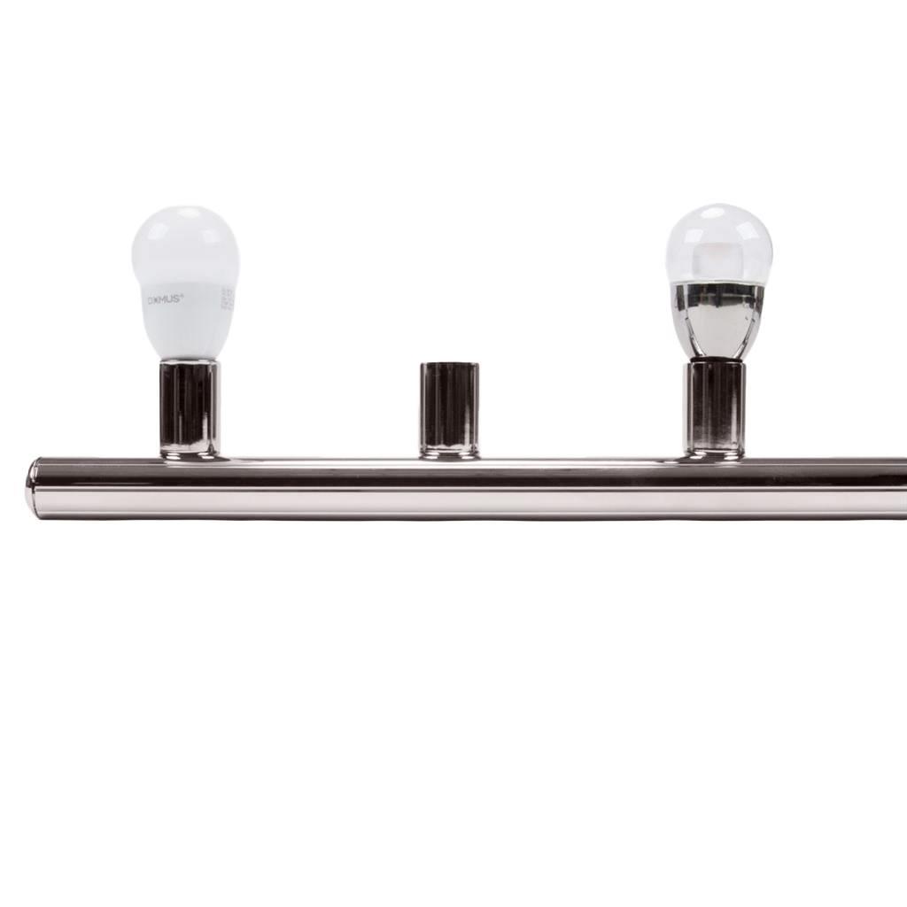 HL-804 Hollywood Vanity Light, 8 Light, Satin Chrome