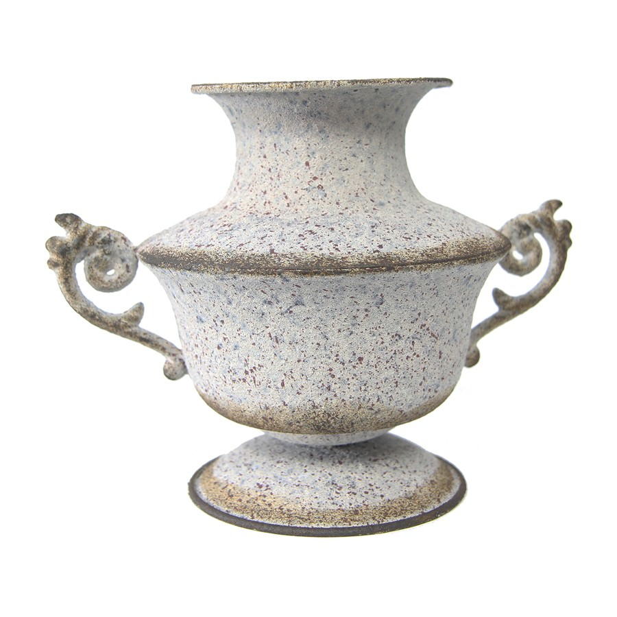 Lastresne Vintage Metal Urn Vase