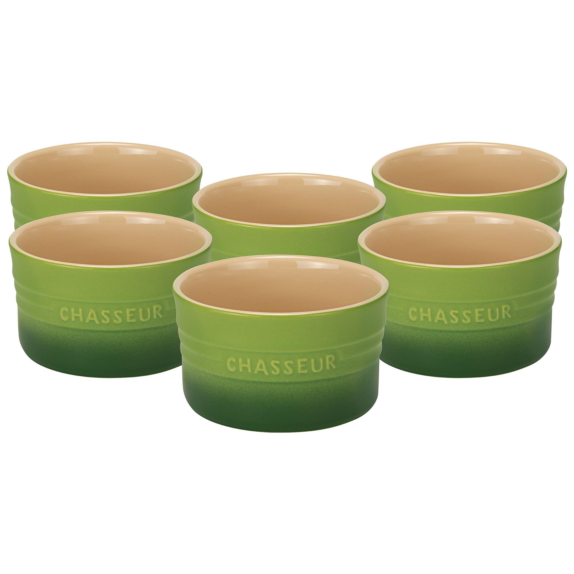 Chasseur La Cuisson 6 Piece Ramekin Set, Apple Green