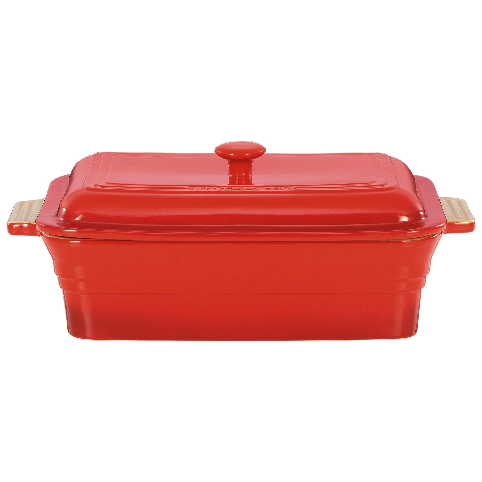 Chasseur La Cuisson 40x23cm Rectangular Baker with Lid - Red