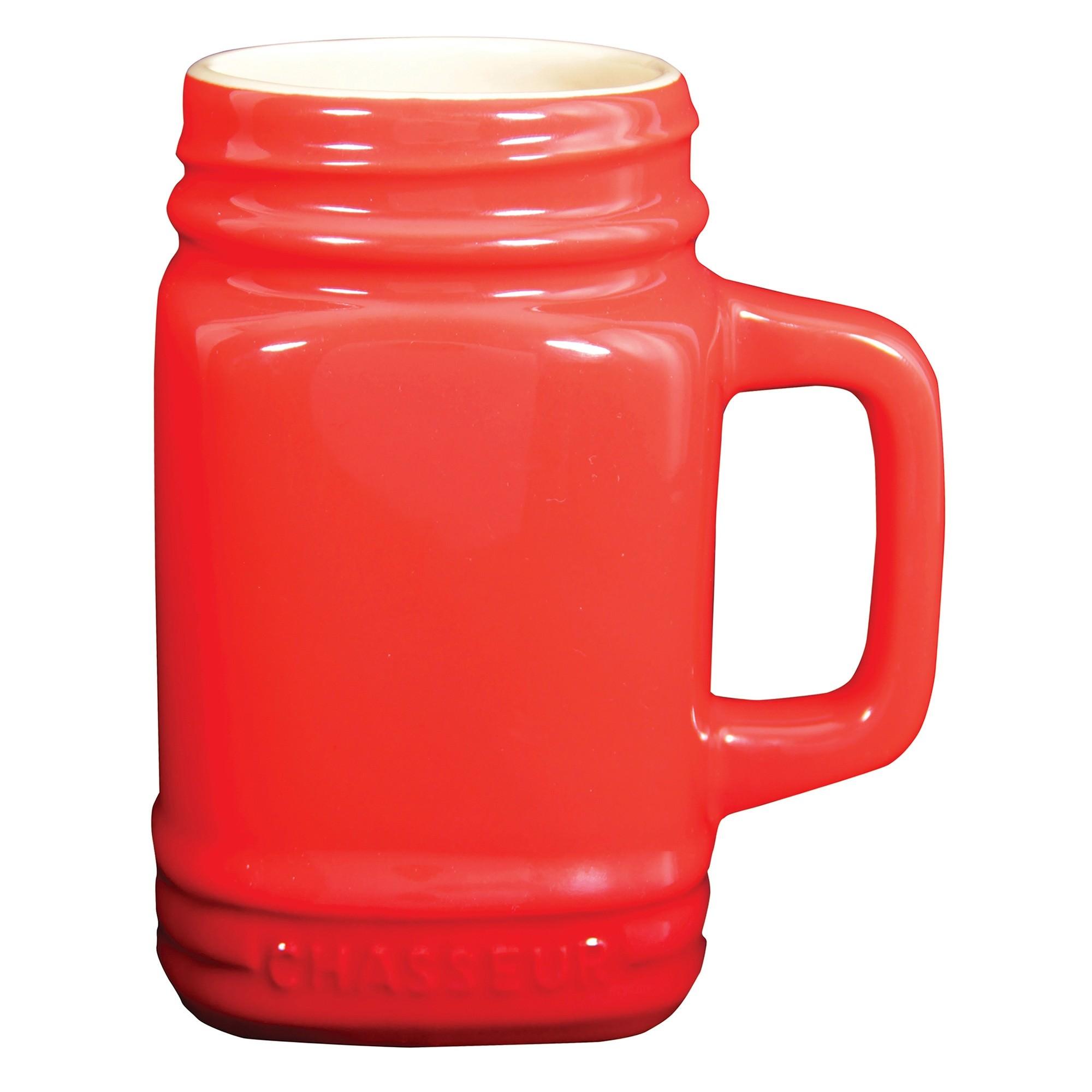 Chasseur La Cuisson Mason Jar Mug, 400ml, Red