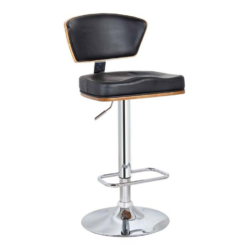 Rio Gas Lift Swivel Bar Stool, Walnut / Black