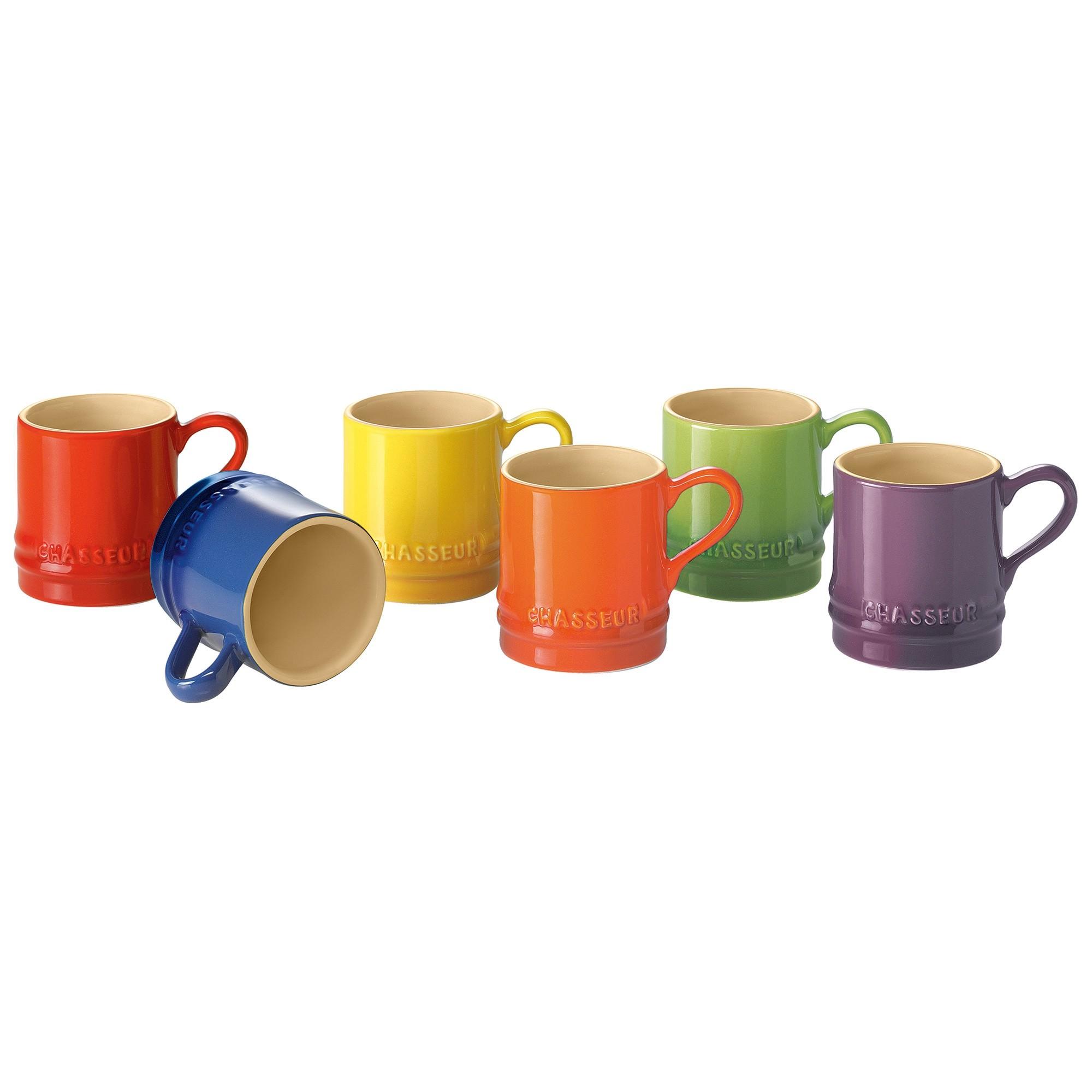Chasseur La Cuisson 6 Piece 100ml Petit Cup Set - Assorted Colours