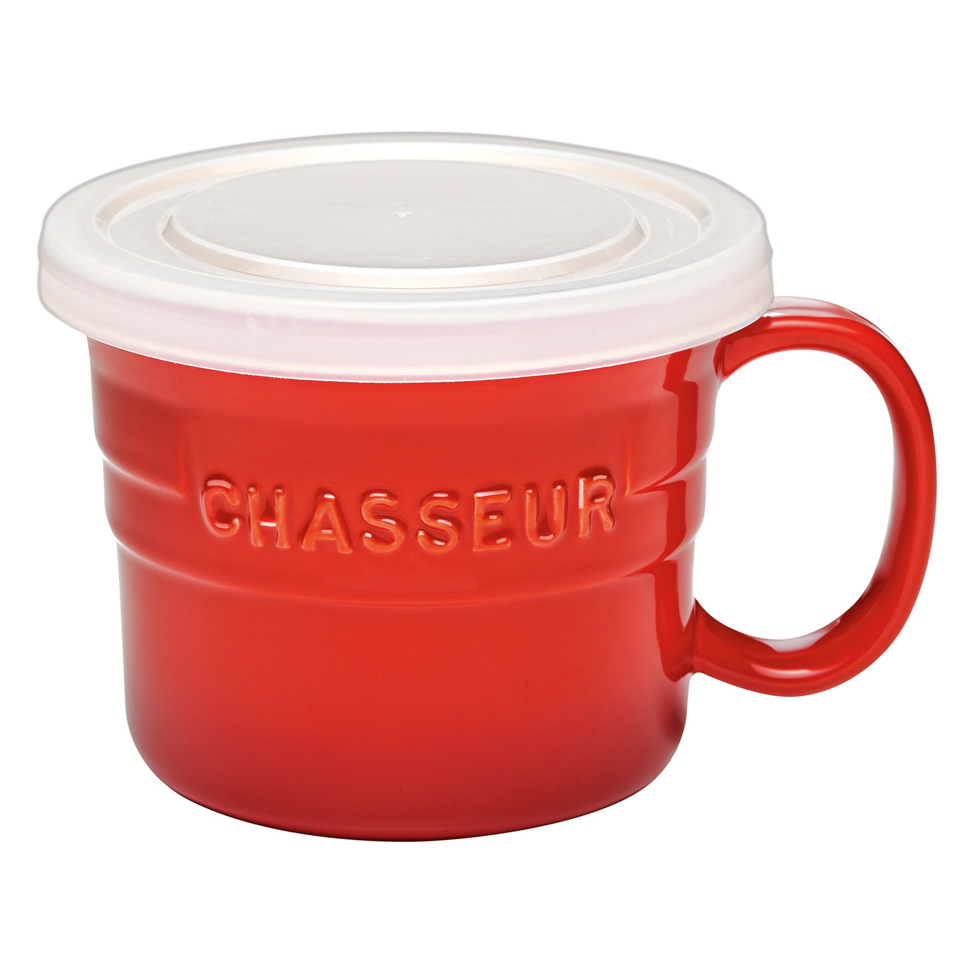 Chasseur La Cuisson 500ml Soup Mug with Lid - Red