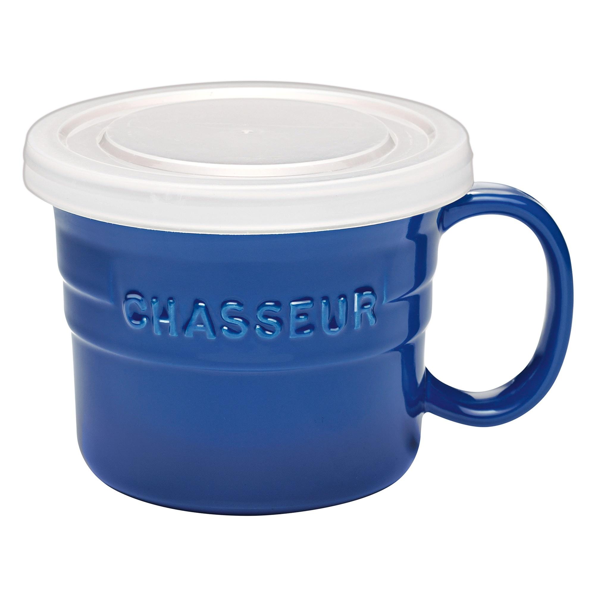 Chasseur La Cuisson Soup Mug with Lid, 500ml, Blue