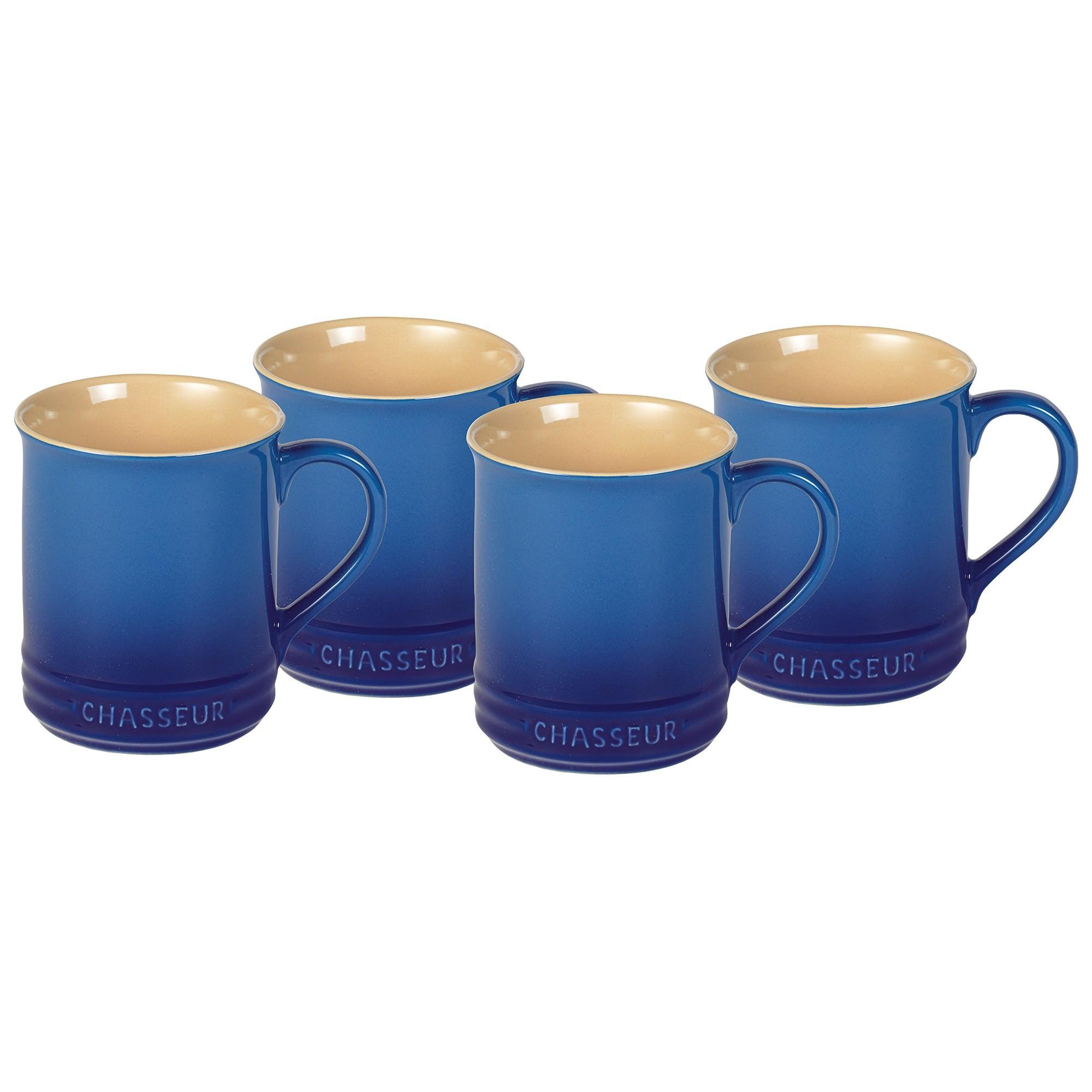 Chasseur La Cuisson 4 Piece Mug Set, 350ml, Blue