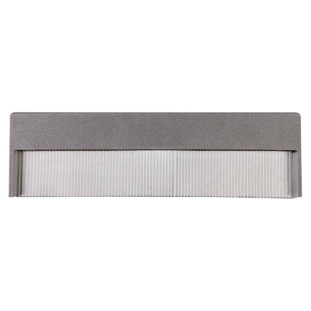 Step IP65 Indoor / Outdoor Recessed LED Steplight, 3000K, Wide, Silver