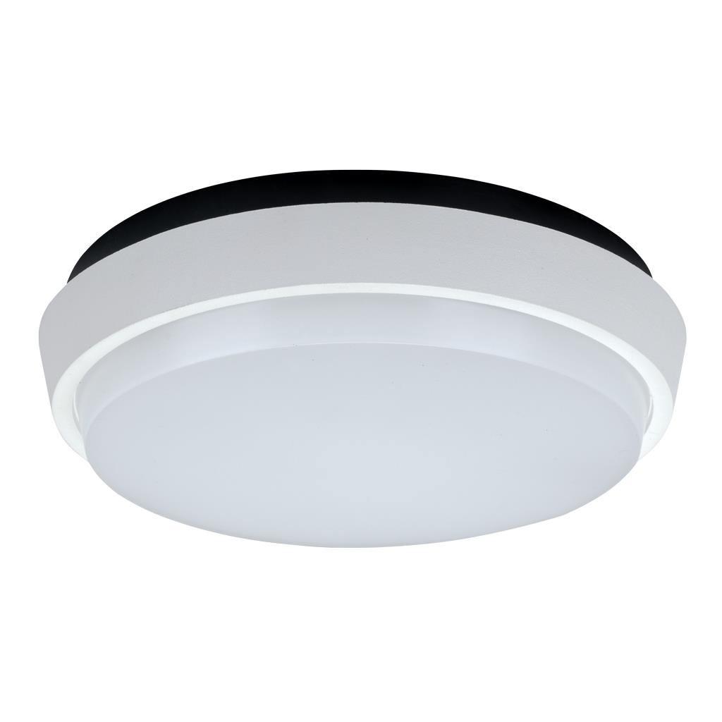 Disc IP54 Indoor / Outdoor LED Oyster Light, 3000K, 24cm, White