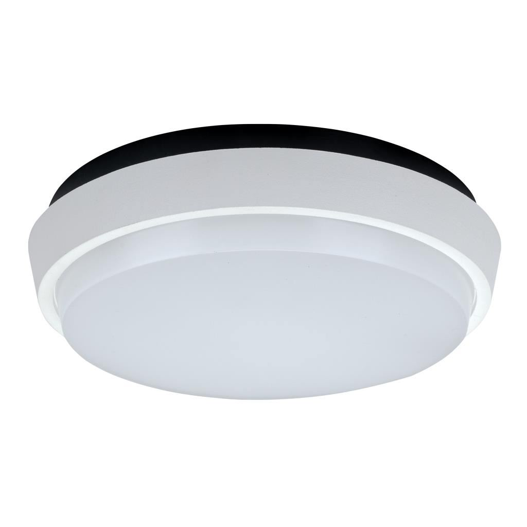 Disc IP54 Indoor / Outdoor LED Oyster Light, 3000K, 30cm, White