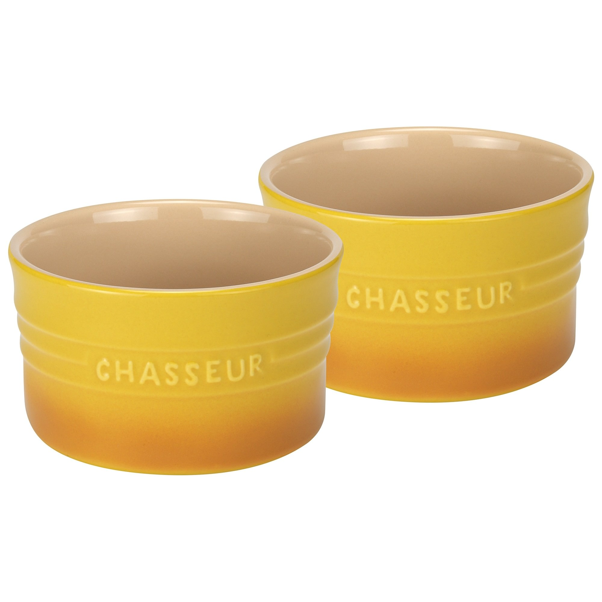 Chasseur La Cuisson 2 Piece Ramekin Set, Yellow