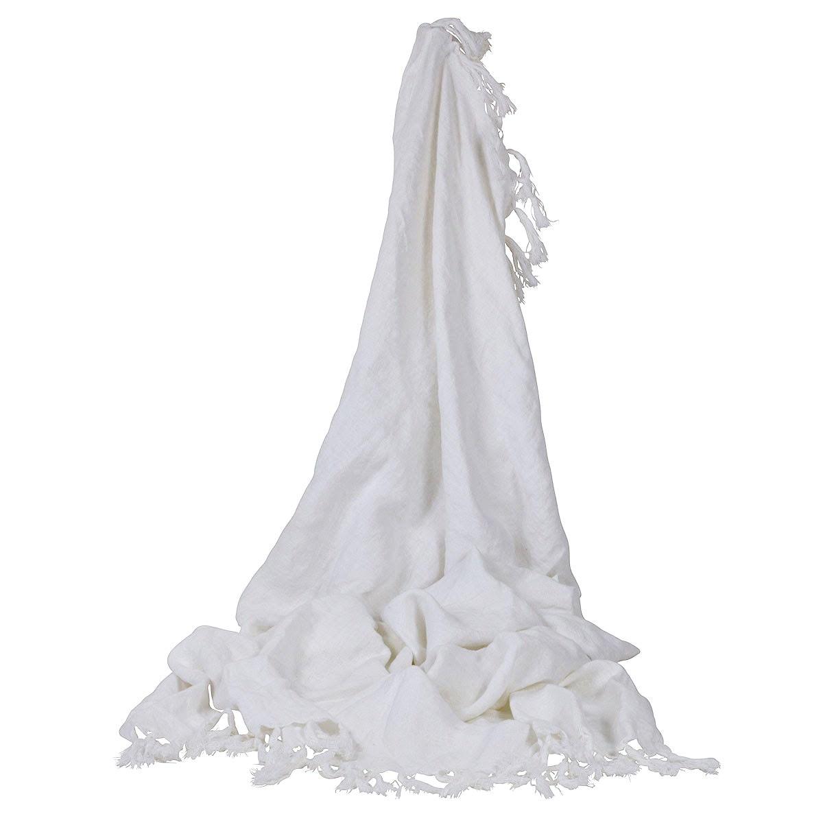 Camargue Frech Yarn Throw, White