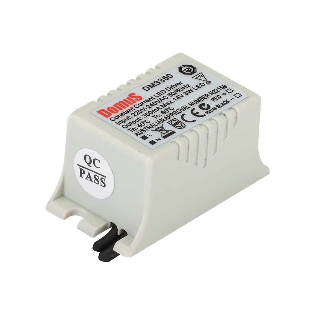 Domus IP66 Constant Currnet Dimmable LED Driver, 350mA, 3W