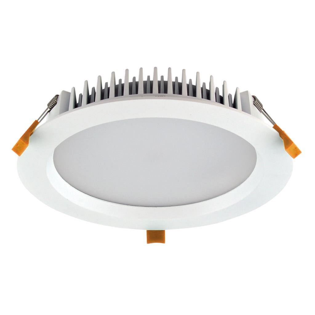 Deco IP44 Commercial Grade Indoor / Outdoor Fixed LED Downlight, 28W, Tricolour, Round, White