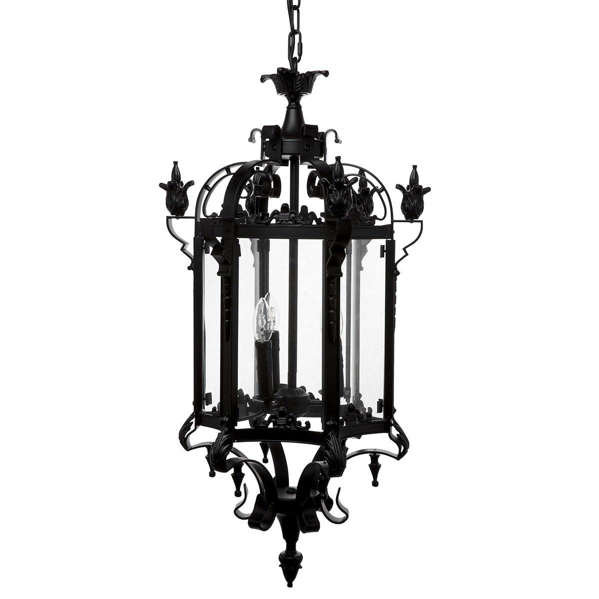 Buatta Iron & Glass Pendant Light, Medium
