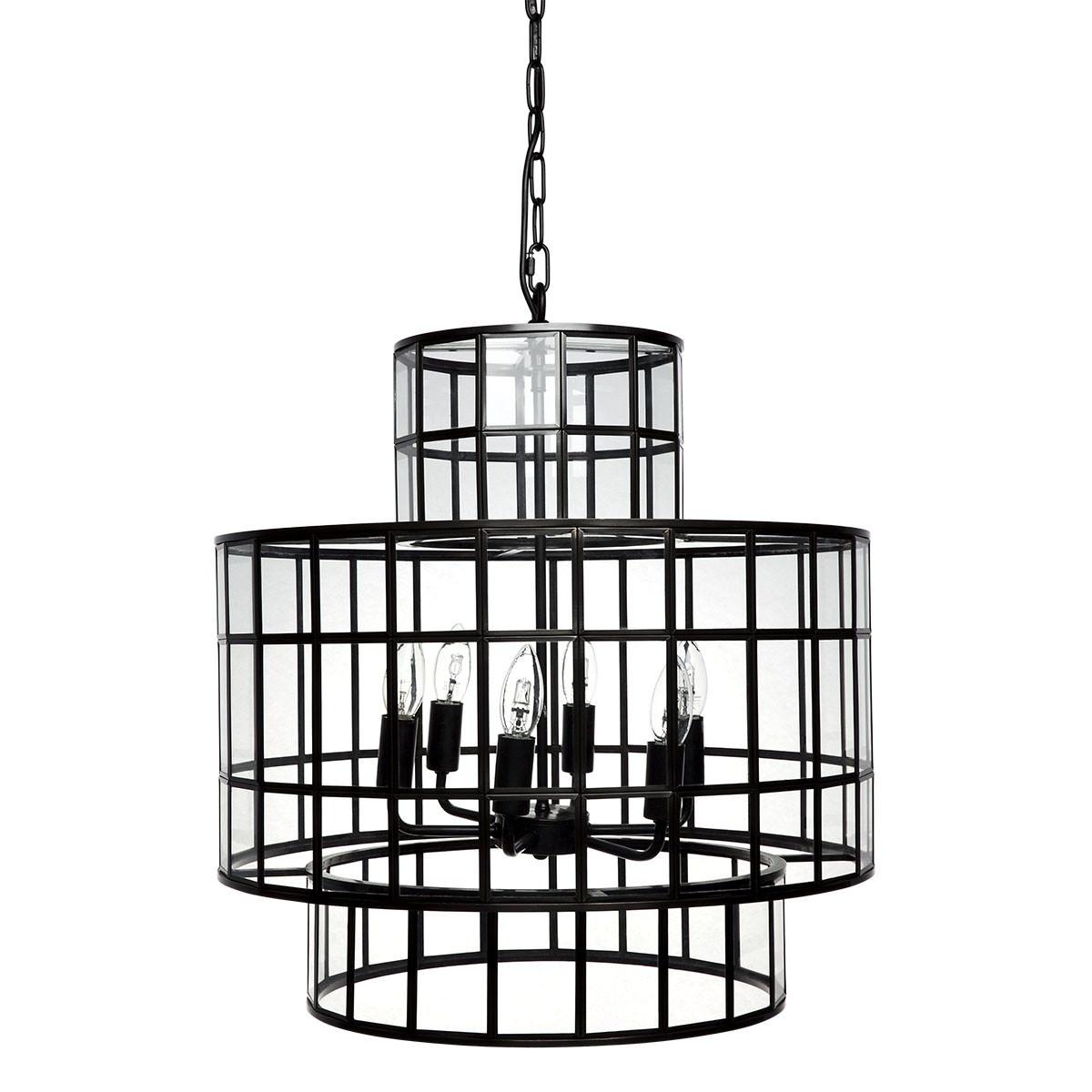 Clayton Steel & Glass Pendant Light