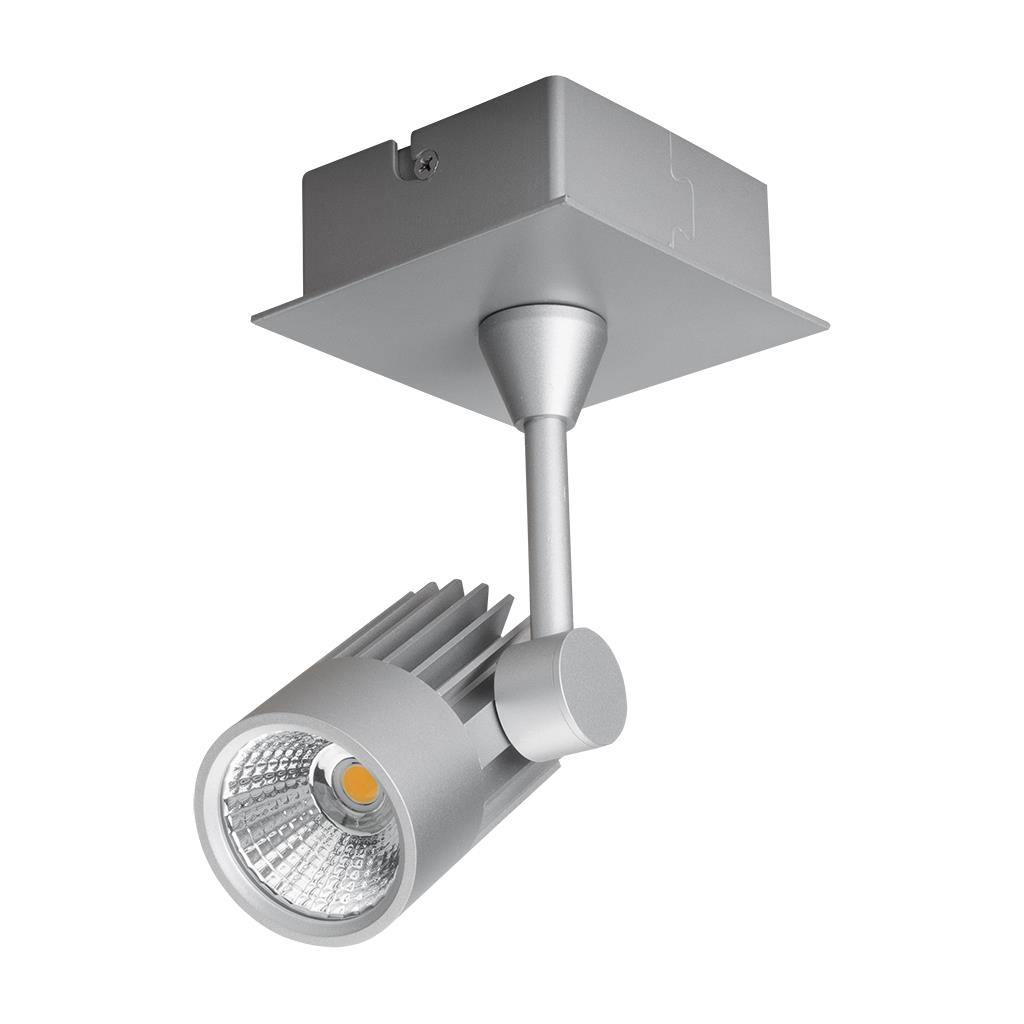Jet LED Spotlight, 1 Light, 3000K, Silver