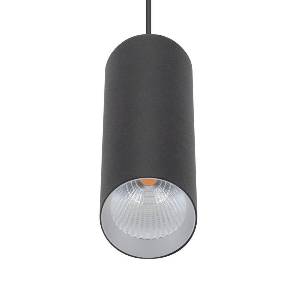 Star Slim Tube LED Pendant Light, 3000K, 18cm, Black