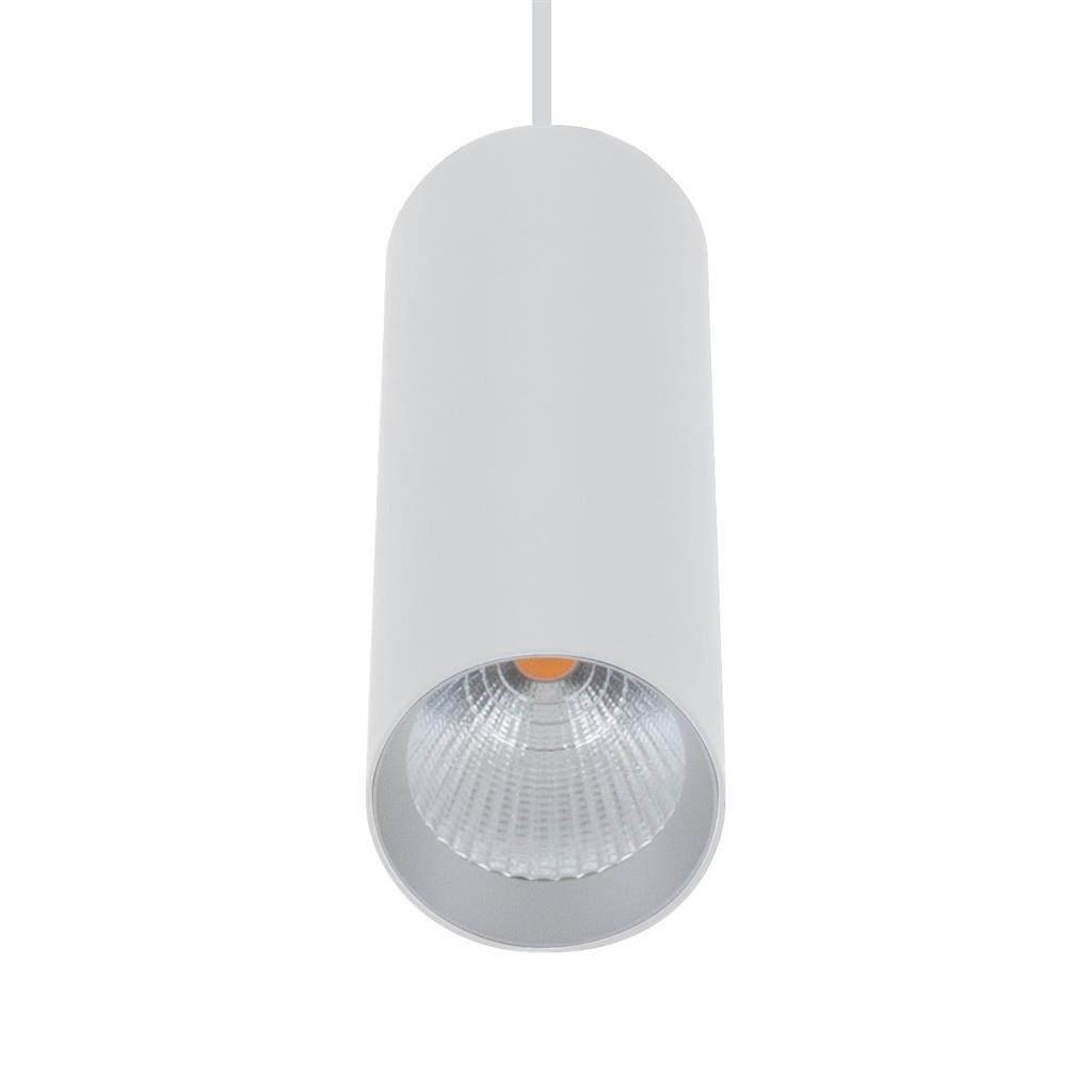 Star Slim Tube LED Pendant Light, 3000K, 18cm, White