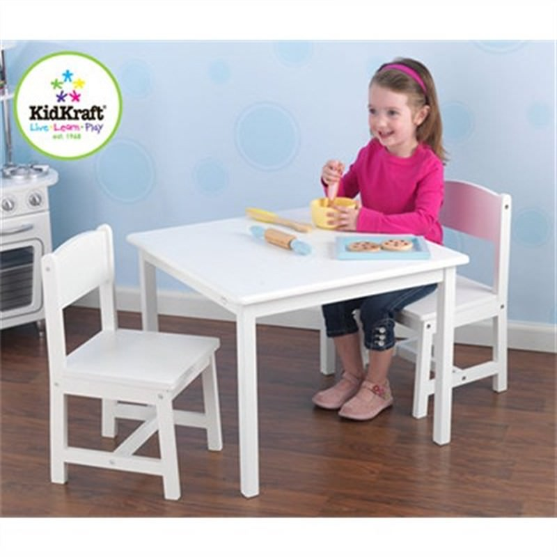 Kidkraft Aspen Table and 2 Chairs - White