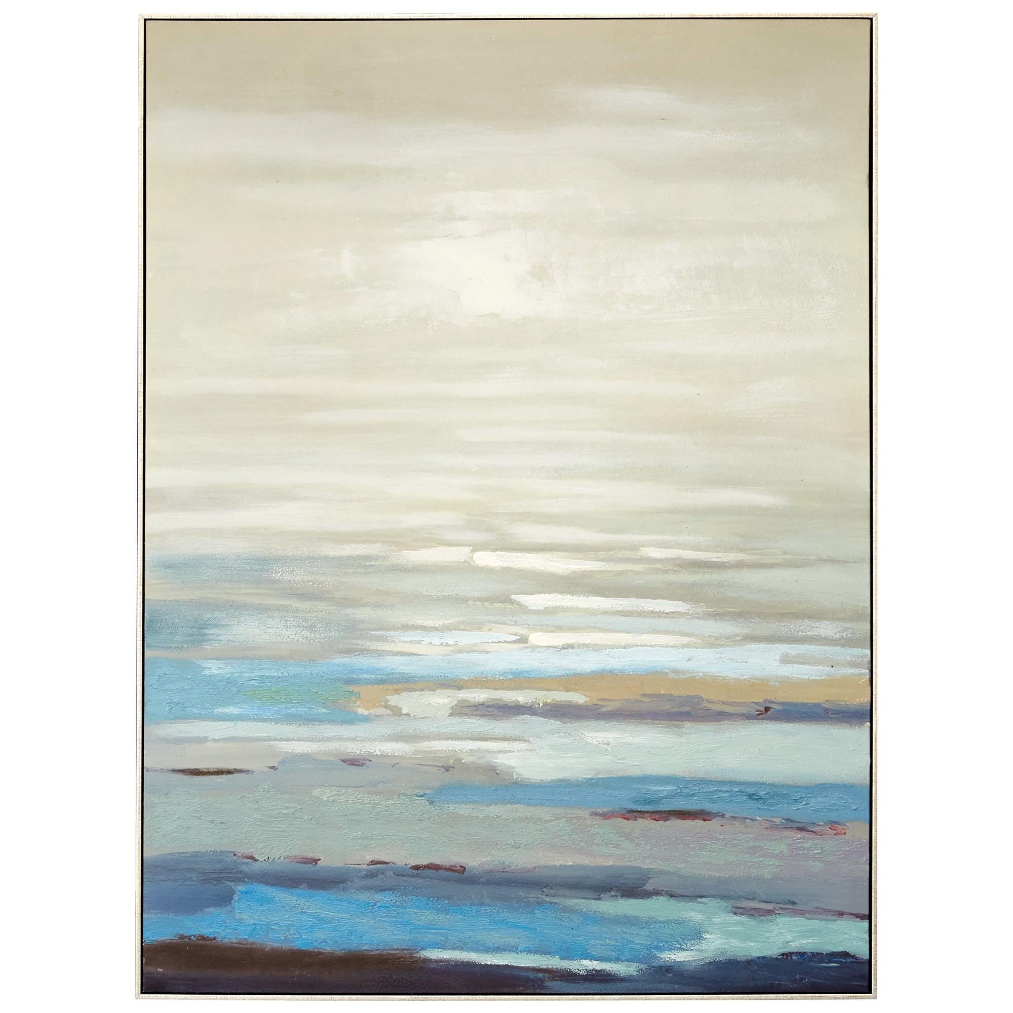 """Navy Cliff View"" Canvas Wall Art Print, 120cm"