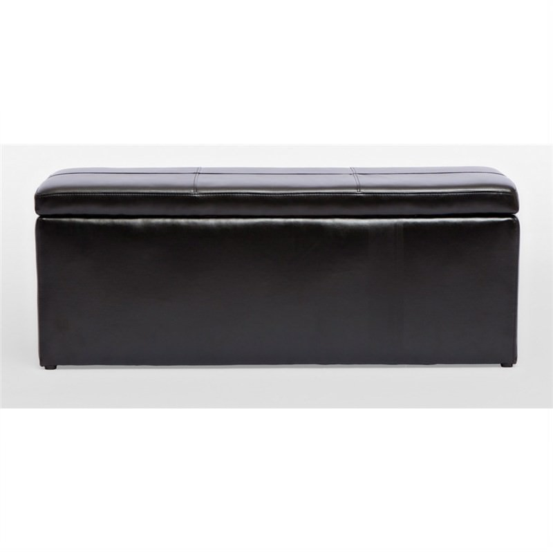Storage Ottoman with 3 Footstools in Black