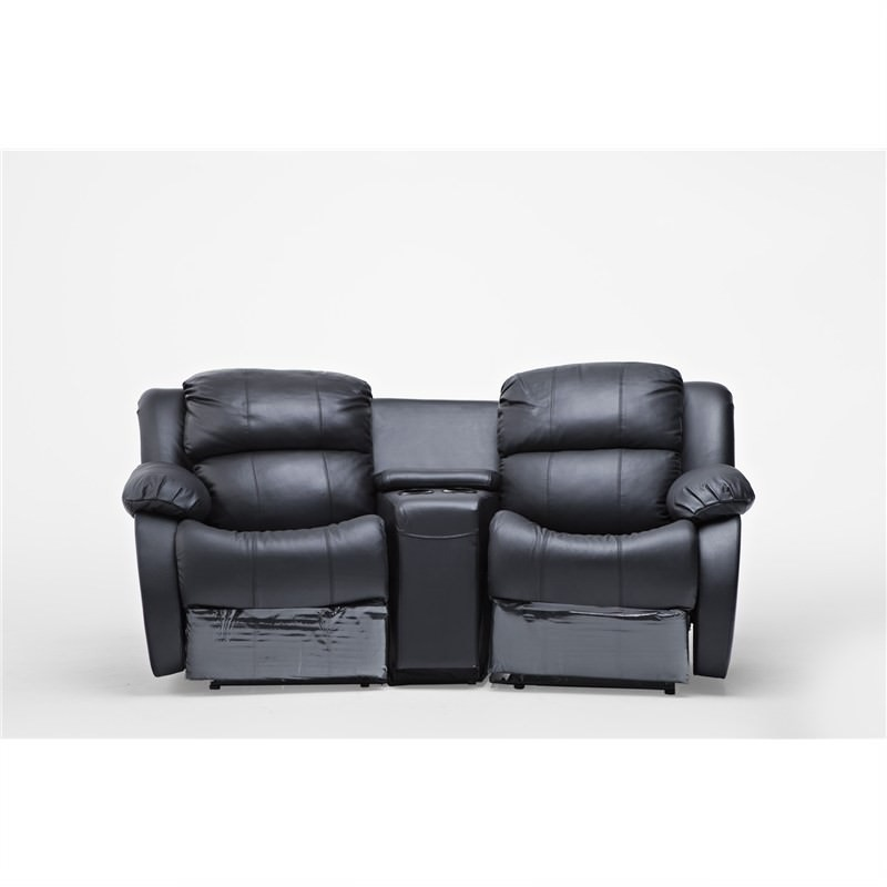 Parrisa Leather 2 Seater Recliner Lounge Suite