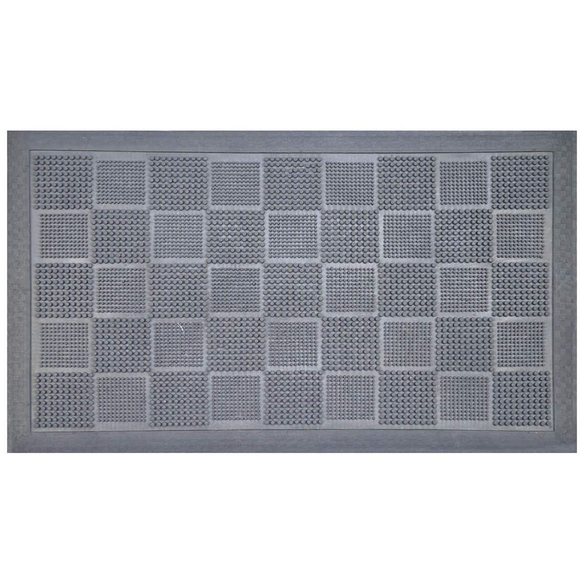 Pin Stripe Rubber Doormat, 70x40cm