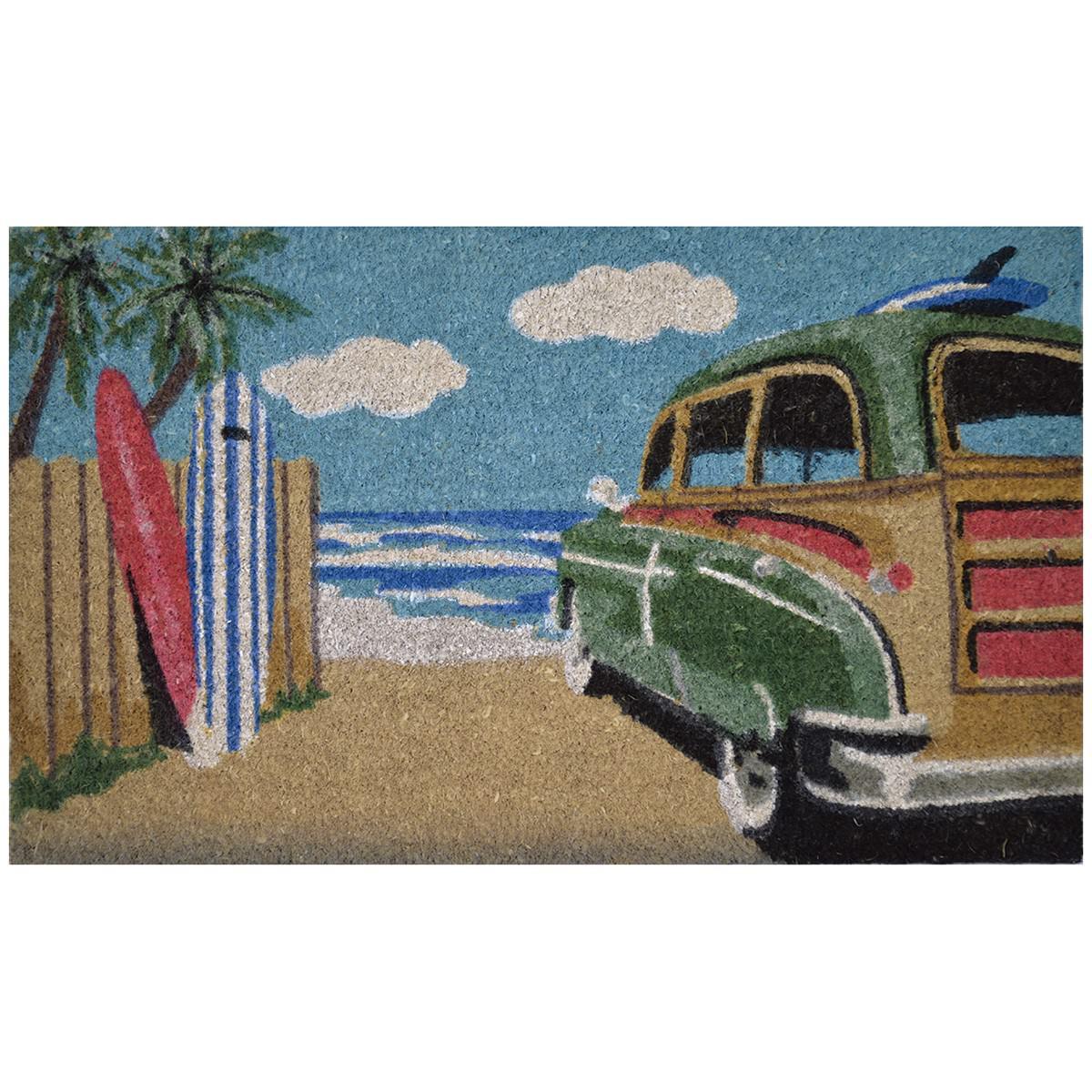 Wagon Surf Coir Doormat, 75x45cm