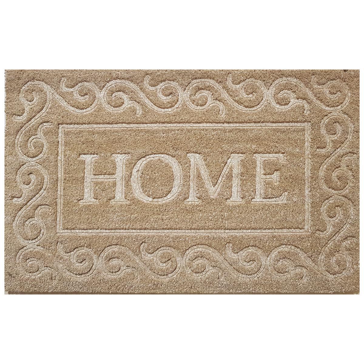 Home Pressed Coir Doormat, 75x45cm