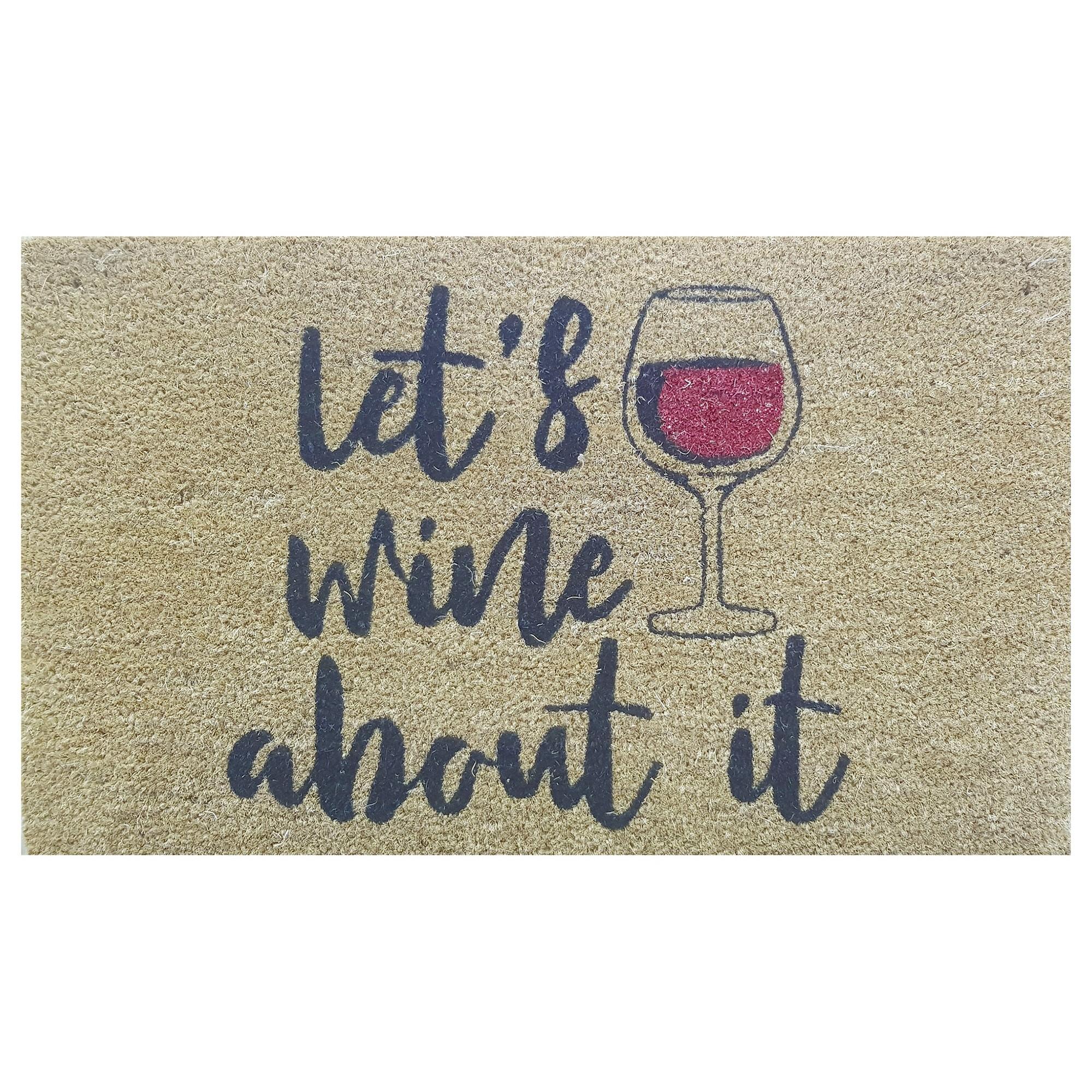 Let's Wine About It Coir Doormat, 75x45cm