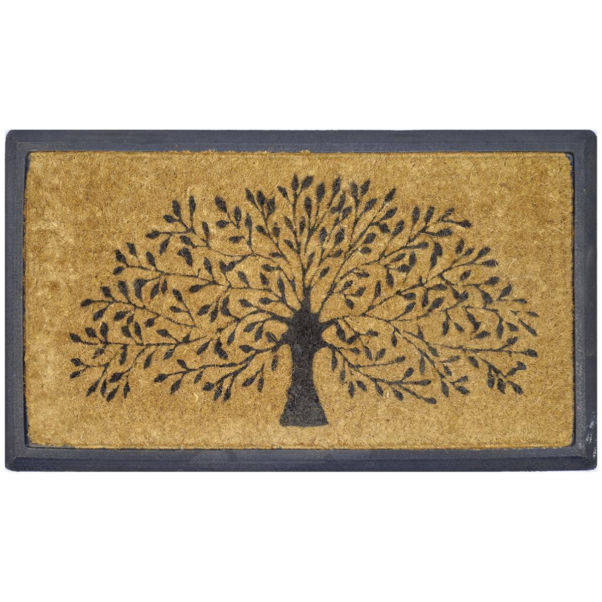 Tree of Life Coir & Rubber Doormat, 70x40cm