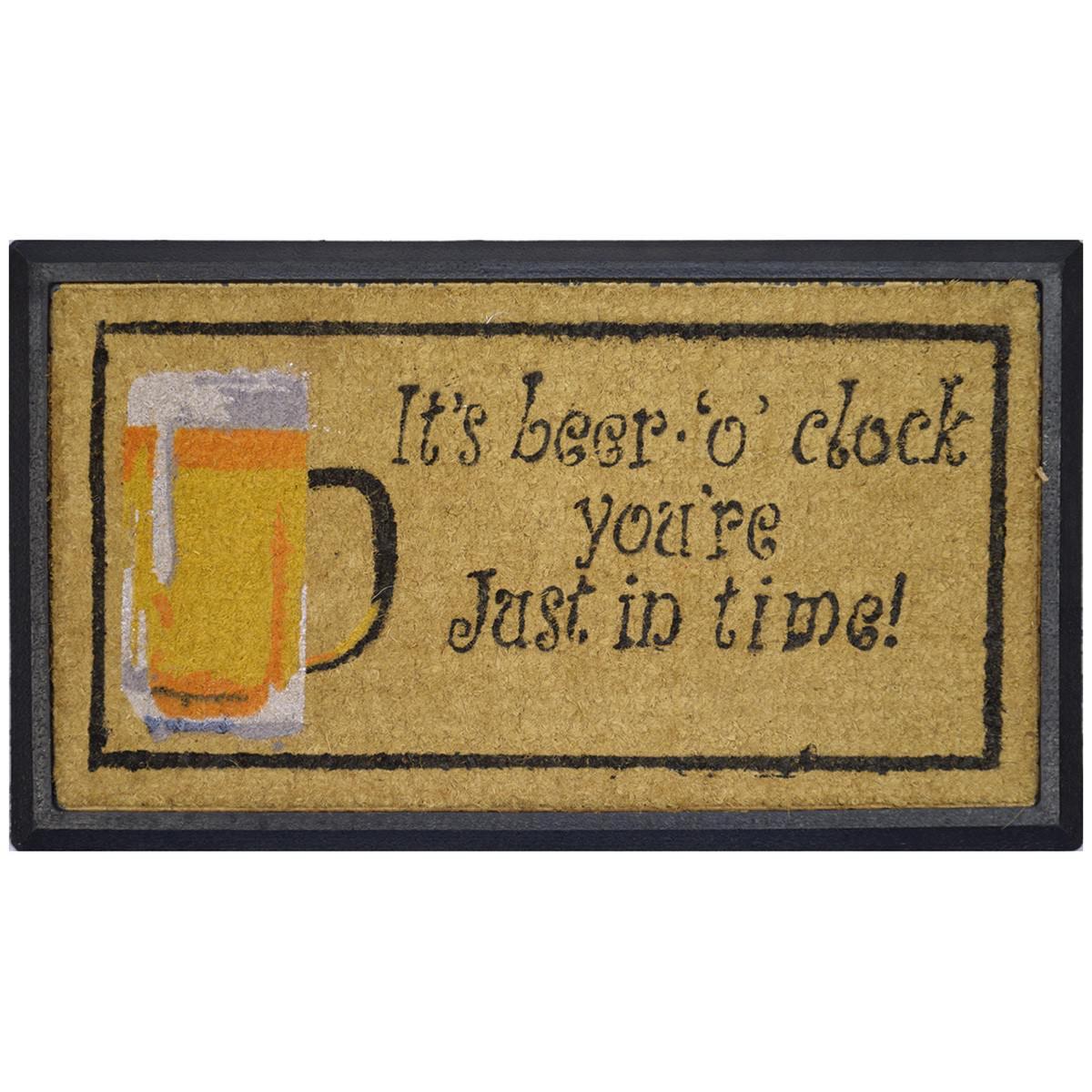 Beer O clock Coir & Rubber Doormat, 70x40cm