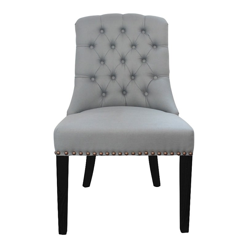 Philippe Tufted Fabric Dining Chair, Storm Blue