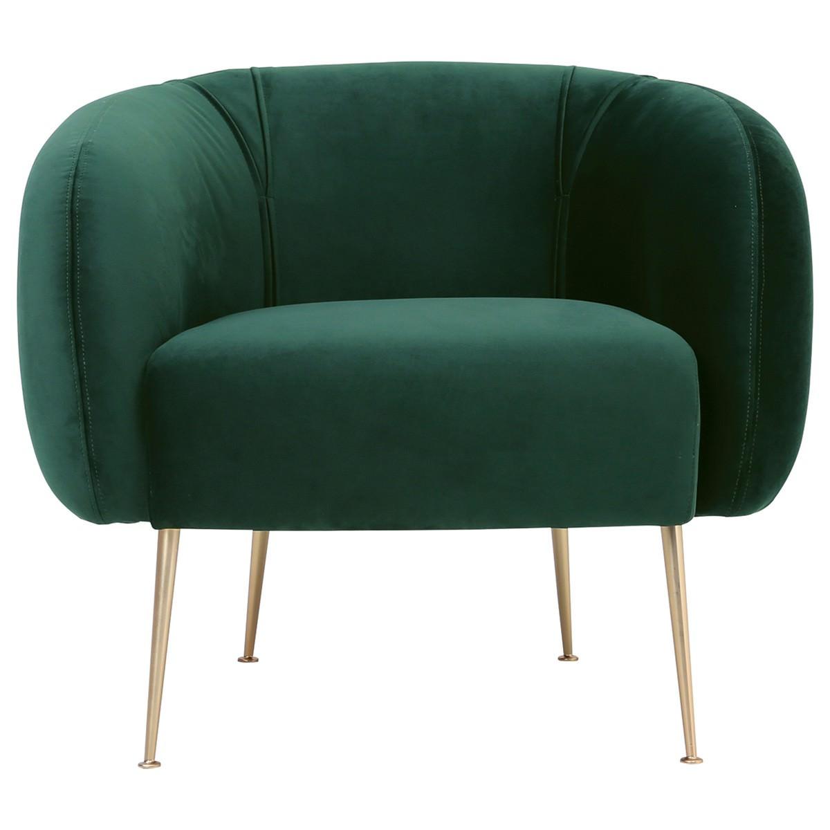 Alero VCommercial Grade eloutine Fabric Armchair, Dark Green