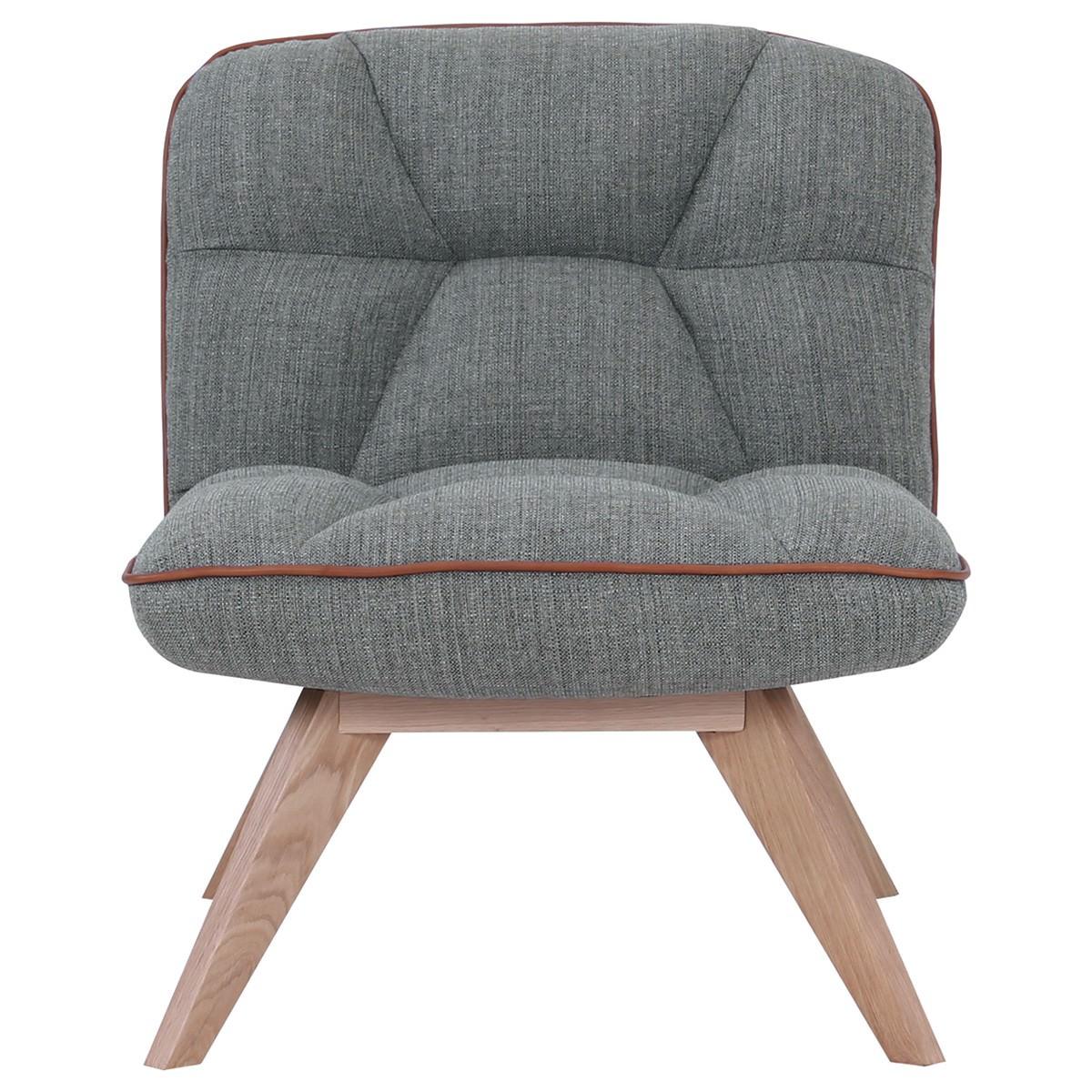 Feiro Commercial Grade Fabric Lounge Chair, Grey