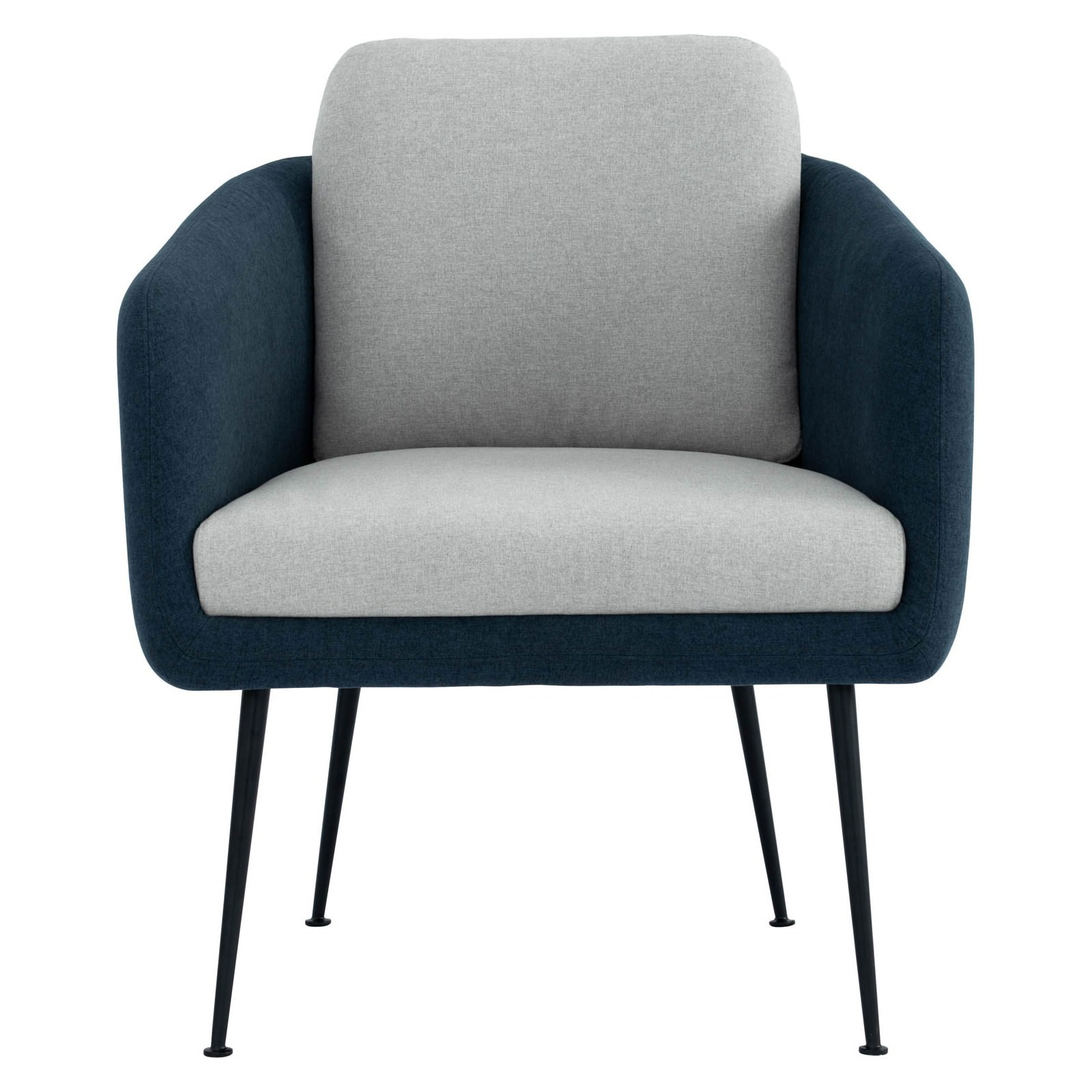 Cougar Commercial Grade Fabric Lounge Armchair, Twilight / Grey
