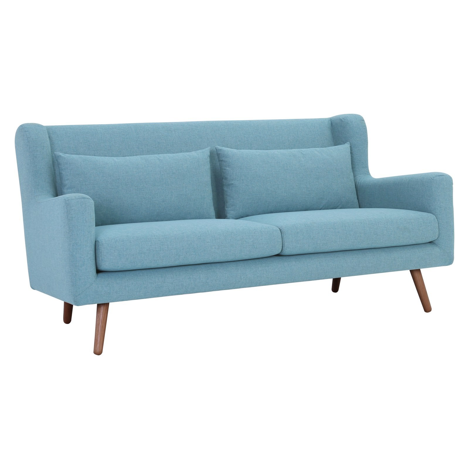 Safari Fabric Sofa, 3 Seater, Aquamarine