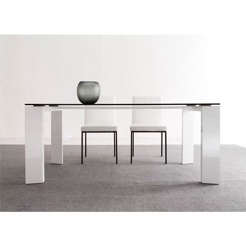 Islander High Gloss White 180cm Dining Table (Table Only)