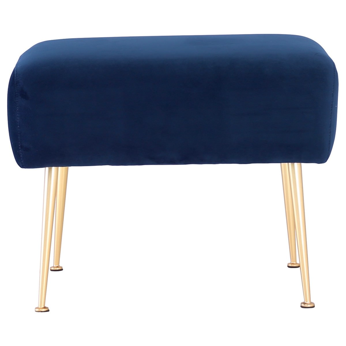 Alero Commercial Grade Veloutine Fabric Ottoman, Midnight Blue