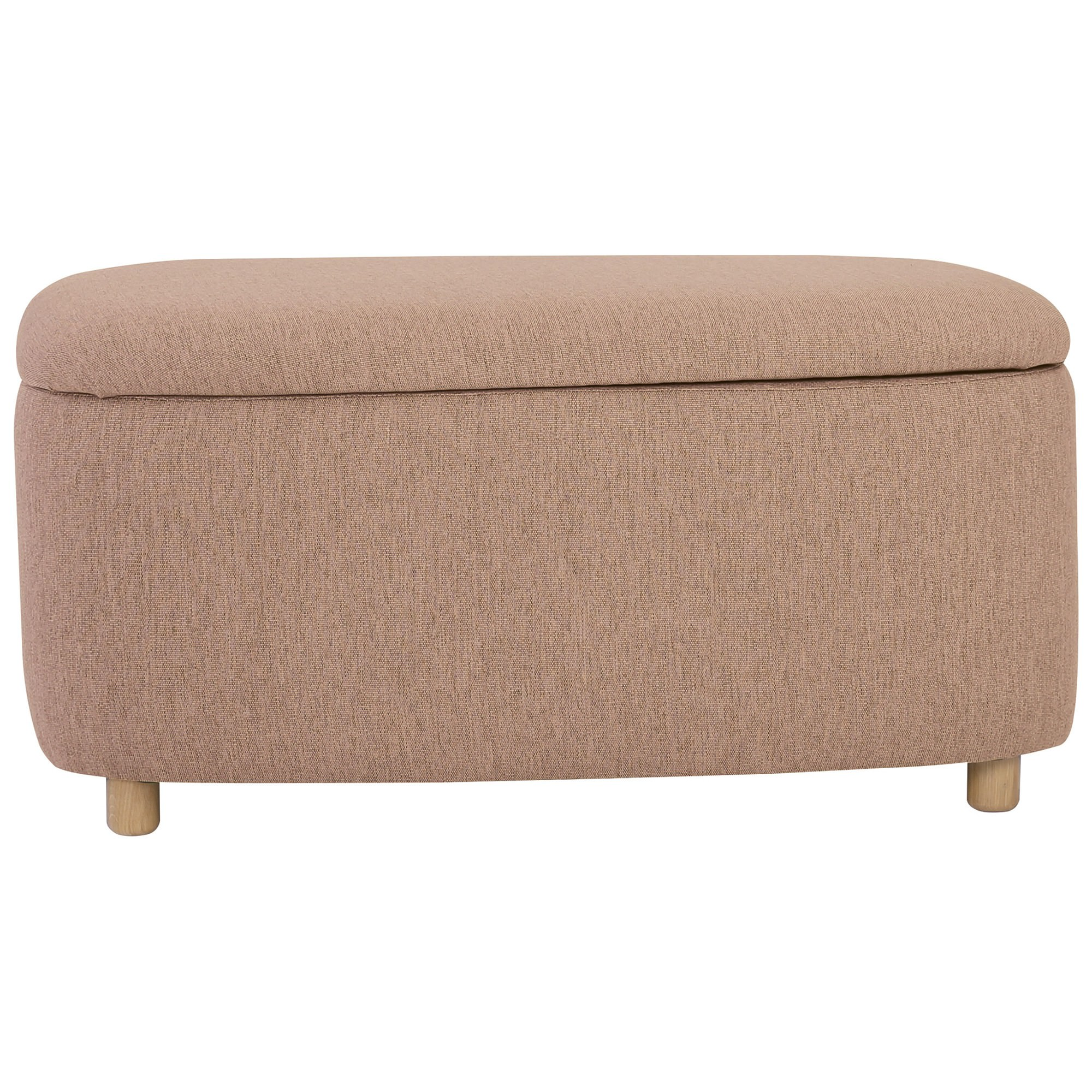 Daytona Fabric Ottoman, Large, Light Brown