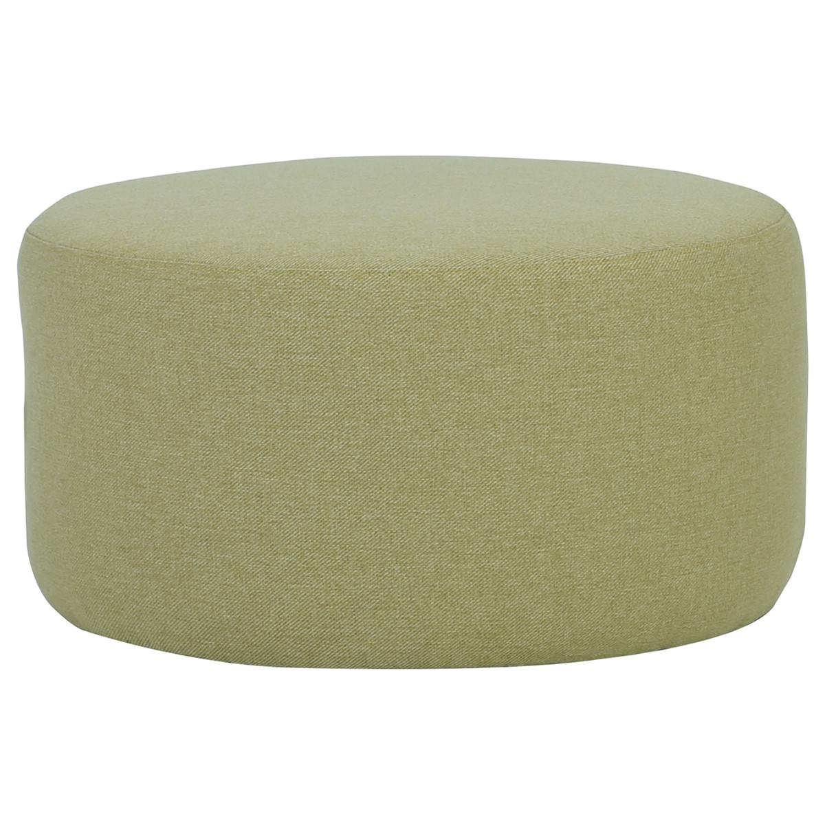 Omni Fabric Round Ottoman, 62cm, Green