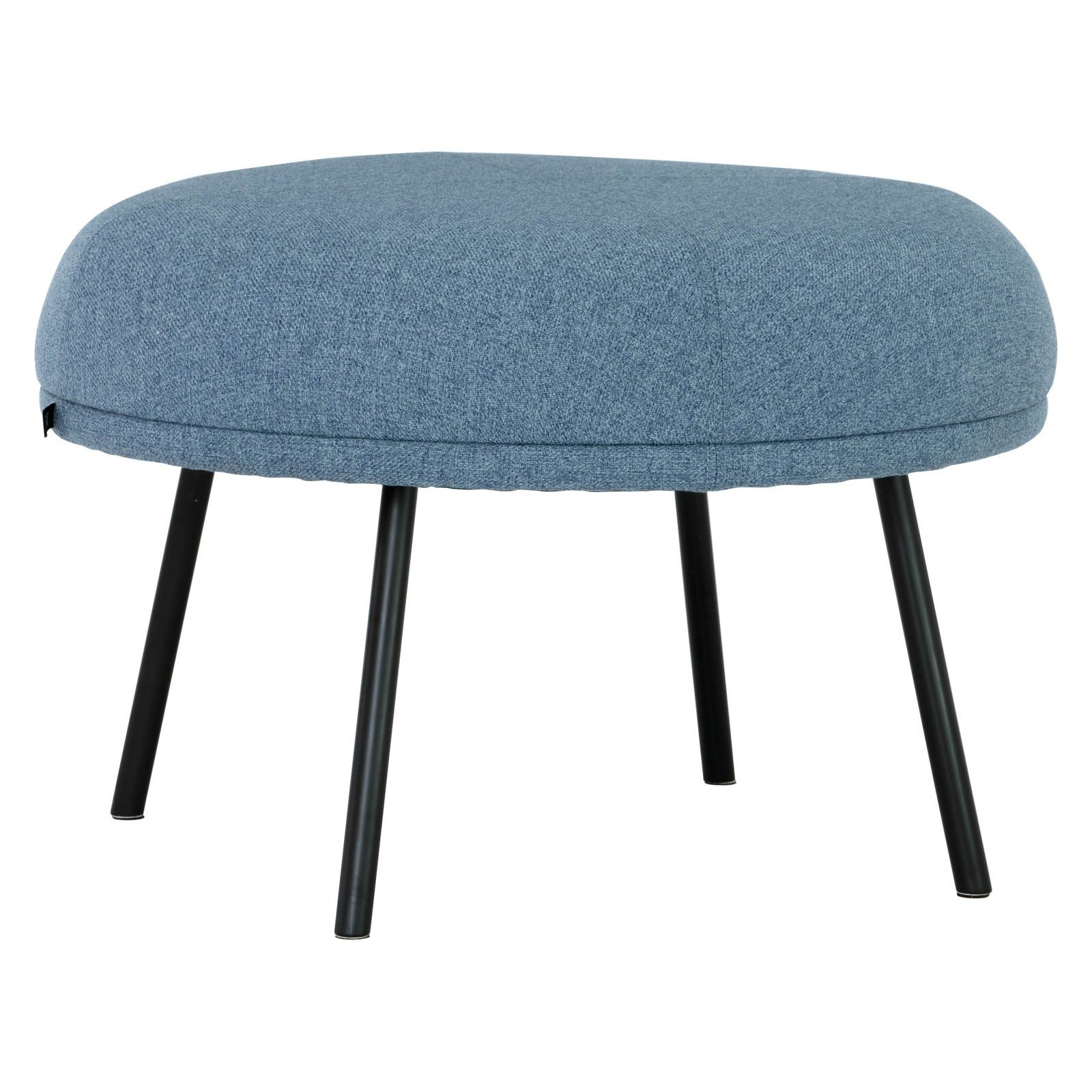 Justy Commercial Grade Fabric Round Footstool, Blue