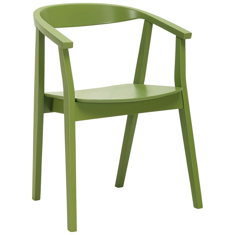 Greta Oak Timber Dining Chair, Green